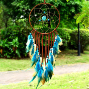 Indian Dream Catcher Handmade Wall Hanging Home Decor Dream Catcher with Feathers Dia 15cm