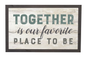 Together Is Our Favourite Place To Be 46cm x 28cm Solid Pine Wood Farmhouse Frame Wall Plaque