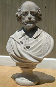 William Shakespeare Bust Statue Marble Stone Old Style Large Life Size Sculpture Bust