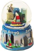 San Diego California 35mm Collectible Souvenir Snow Globe Featuring the Famous San Diego Coast