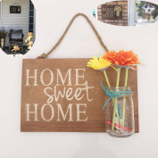 Yonor Rustic Wood Home Welcome Sign, Home Sweet Home Vintage Brown Sign, Rustic Wood Porch Sign, Rustic Front Door Decorations Welcome Sign