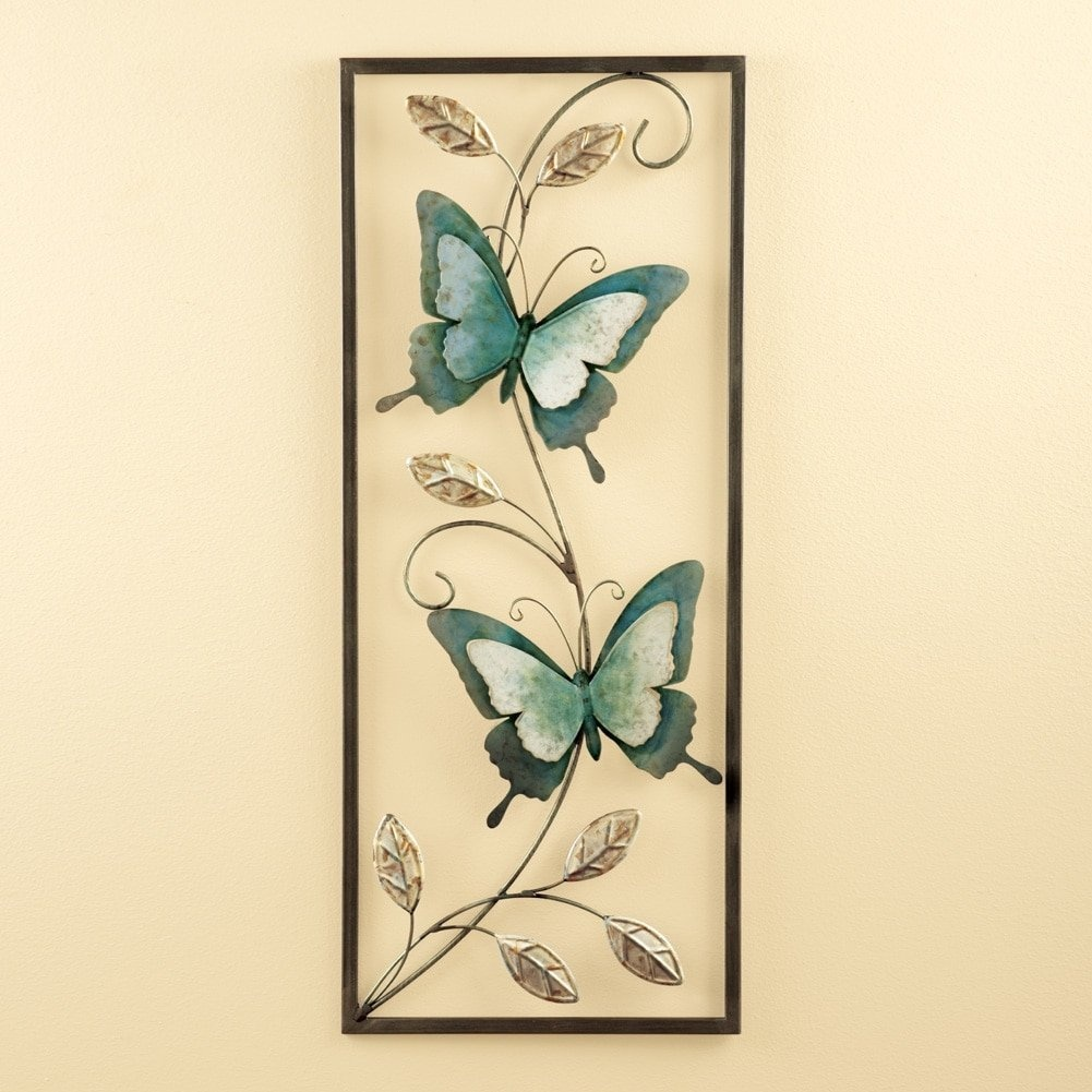 Luxury Butterfly Metal Wall Art Composition - Wall Art Collections ...