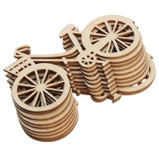 Katoot@ Wooden Bicycle Ornaments for Rustic Theme Party DIY Handmade Bike Crafts Home Christmas Birthday Wedding Decorations 10Pcs/Set
