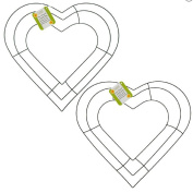 30cm Heart Shaped Wire Wreath Frame Set of 2