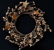 Teastain Pip Berry & Rusty Star Ring Mini Wreath Country Primitive Floral Décor