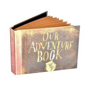 Pulaisen Our Adventure Book Scrapbook Album,Up Movie Handmade Photo Album with Bonus Gift Box
