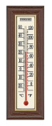 Springfield Wood Grain Indoor Thermometer