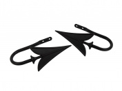 Rod Desyne Arrow Holdback Pair for Windows, Black