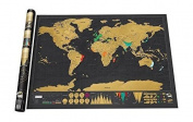 Scratch off world map poster | Places you travel scratchable map of the world perfect gift for a traveller 80cm x 60cm .