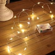 Led String Lights, Sanniu Mini Battery Powered Copper Wire Starry Fairy Lights, Battery Operated Lights for Bedroom, Christmas, Parties, Wedding, Centrepiece, Decoration