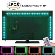Sunnest TV Backlight Light Kit, 6.56FT/2M 5V USB LED Lights Strips 5050 RGB Bias Lighting with Remote for HDTV Desktop PC Monitor Home Theatre Kitchen Cabinets, Multi Colour