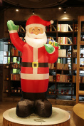 Fashionlite 2.4m Christmas Xmas Inflatable Santa Claus Lighted Blow-Up Yard Party Decoration