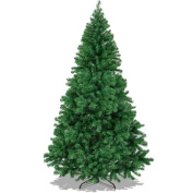 Best Choice Products 1.8m Premium Hinged Artificial Christmas Pine Tree With Solid Metal Legs 1000 Tips Full Tree