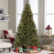 Best Choice Products 1.8m Pre-Lit Premium Spruce Hinged Artificial Christmas Tree w/ 250 UL Certified Lights, Stand