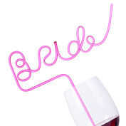 Bride Straw for Bachelorette Party - Big Pink Sipping Straw for Bachelorette, Bridal, Hen, Bride to Be Party and Girls Night Out - Fun Party Favours Decoration - Best Bachelorette party supplies
