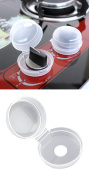 Huntiger 2 pcs Child Protection Kitchen Stove Transparent Security Lock,Kitchen Stove Knob Covers for Baby Safe,Kitchen Children's Gas Cooker Switch Protective Cover
