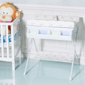 Costway 2 IN 1 Folding Baby Changing Table Portable Padded Storage Bath Tub Unit Dresser