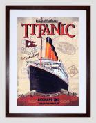 TRAVEL TRANSPORT TITANIC LINER DISASTER QUEEN OCEAN FRAMED ART PRINT B12X10339