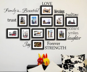 Family Photo Frame Wall Decal Art DIY Quotes Saying Decoation for Photo Frames