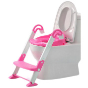 FB FunkyBuys® Blue 3 in 1 Toilet Trainer - Baby Toddler Potty Training Toilet Ladder Seat Steps Girls and Boys