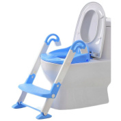 FB FunkyBuys® 3 in 1 Toilet Trainer - Pink Baby Toddler Potty Training Toilet Ladder Seat Steps Girls and Boys