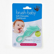 BRUSH-BABY SOFT CHEWABLE TOOTHBRUSH GREEN / TEAL