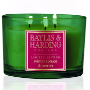 Baylis & Harding Winter Spruce & Berries Festive Triple Wick Scented Candle