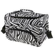 Sharplace Professional Salon Barber Hairdressing Cutting Styling Tools Hair Dryer Straightener Carry Case Luggage Cosmetic Duffle Travel Bag - Zebra Pattern