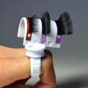 U Shape Ring Strip False Eyelashes Extension Pallet Glue Holder Set Finger Tool