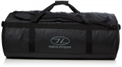 Highlander Lomond Tarpaulin Duffle ꟷ Tough, Durable, Heavy Duty PVC Bag ꟷ 65L, 90L,120L ꟷ Red & Black ꟷ Unisex Luggage for Men & Women Travelling, Holidays, Skiing, Expedidtions