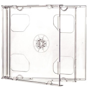 Four Square Media 1 X CD DVD Double Jewel Cases 10.4mm for 2 Disc with Clear Tray - Pack of 1