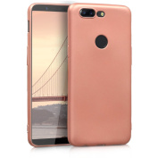 kwmobile Chic TPU Silicone Case for the OnePlus 5T in metallic rose gold