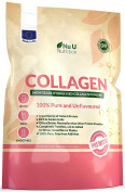 Collagen Powder 600g Protein High Grade Unflavoured Hydrolysed Collagen made in the UK from Pure Bovine 100% Collagen Hydrolysate in Resealable Pouch by Nu U Nutrition.