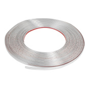 8mm x 15M Car Interior Silver Tone Soft PVC Moulding Trim Strip Line