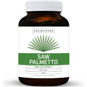 Best Saw Palmetto 120 Capsules (NON-GMO) - Support Prostate Health to Reduce Frequent Urination - DHT Blocker Prevent Hair Loss - 500mg High Strength 25% Extract Natural Supplement for Men - No Pills