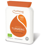 600mg Organic Turmeric Curcumin 180 Veg Capsules with added Organic Black Pepper for best absorption | Soil Association Certified | Made in UK | Vegetarian and Vegan friendly
