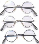 Silver Round Style Clear Glasses John Lennon Harry Potter Metal Frame Lens Santa