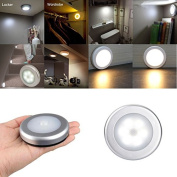 Motion Sensor Detector Light,Battery Powered Automatic LED Porch Stair Hall LED Night Bulb for Stairs Garage Corridor