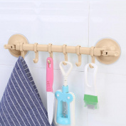 Xshuai Wall Vacuum Rack Suction Cup 6 Hooks Towel Bathroom Kitchen Holder Sucker Hanger