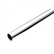 Bulk Hardware BH04404 Chrome Plated Round Wardrobe Rail, 1220 x 19 mm