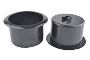 Black 64mm Height 2 Pcs Plastic Replacement Cup Holder Insert For Sofa Couch Table Recliner Poker Boat Car Truck RV