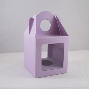 10 x Medium Lilac Single Cupcake / Muffin / Fairy Cake Boxes With 2 Windows