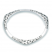 NYKKOLA Fashion Silver Jewellery Beautiful 925 Style Classic Vintage Wave Bracelet Bangle