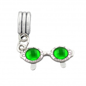 Bling Stars Sunshine Sunglasses Dangle Charm Bead fits Pandora Bracelets