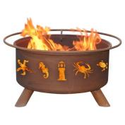 Patina Products Classic Atlantic Coast Steel Wood Burning Fire pit