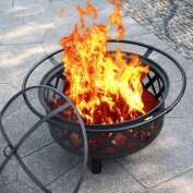 80cm Fire Pit Fire bowl Portable Cooking Outdoor Patio Fireplace Garden Stove Firepit