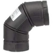 Pellet Pipe 243230B Type L Vent Stove Pipe Elbow, 7.6cm , 90 deg, 570 deg F, Black
