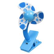 Car Laptop 3 Foam Blade Cooling Cooler Clip Mini Handy Fan Blue