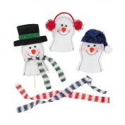 IN-4/2600 Snowman Sucker Covers Per Dozen By Fun Express