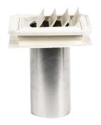 Builders Edge Exhaust Vent 20cm H X 18cm W X 4.1cm D 20cm 10cm Dia. White